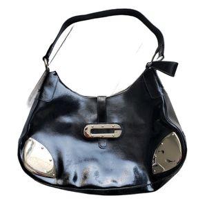 Vintage Guess black patent handbag